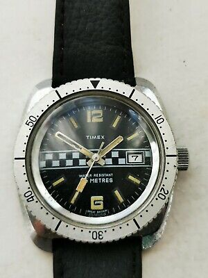 Vintage Mens Timex F1 Rally Watch 1974