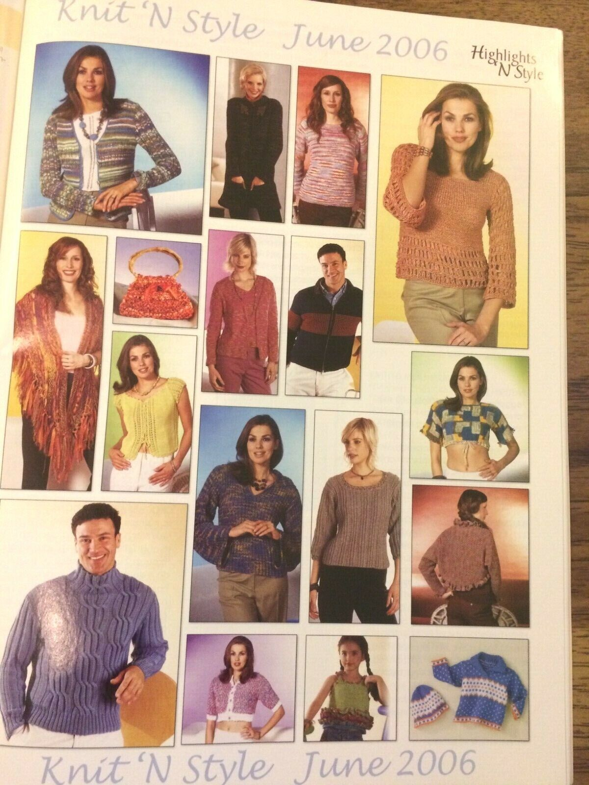 KNIT N STYLE Issue 143 June 2006 Spring Summer LACE Knit Patterns Lot713 - $3.00