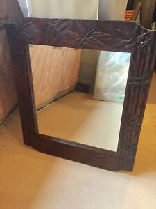 Large wood carved mirror