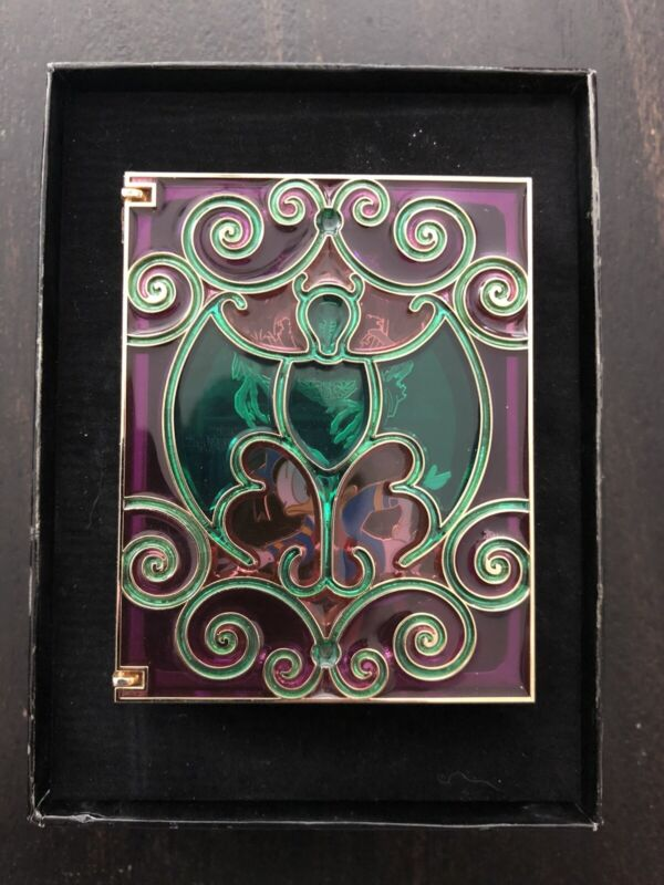Disney Storybook Collection Haunted Mansion Jumbo Stained Glass Pin LE 750