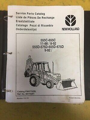 Ford New Holland 555c 555d 575d 655c 655d Backhoe Parts Catalog Manual Copy