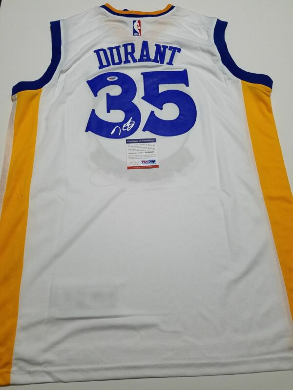 1dabe687 Kevin Durant signed jersey PSA/DNA Golden State Warriors Autographed  $599.99. Seller: gs-memorabilia