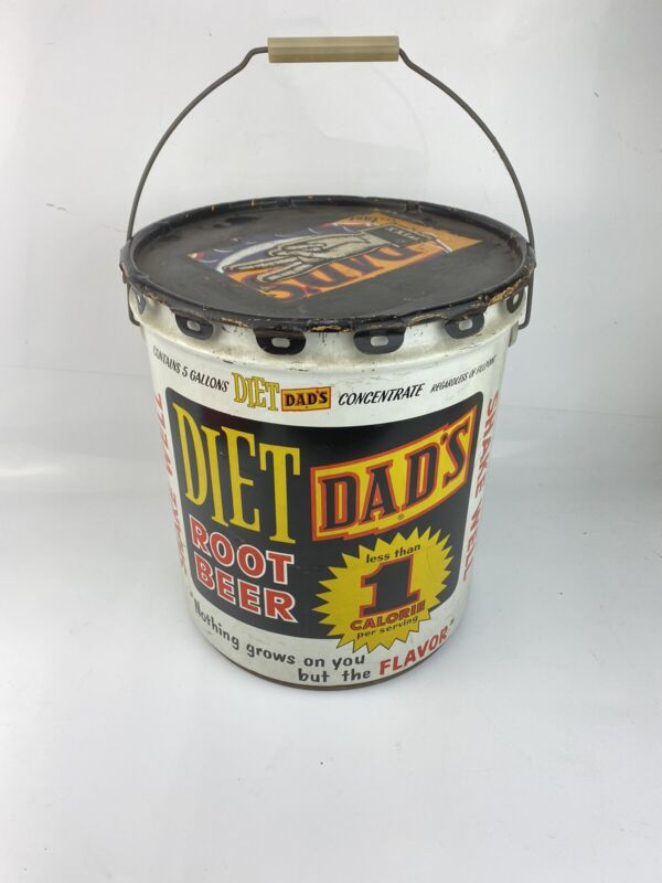 5 GALLON DIETS DADS ROOT BEER SYRUP CAN ORIGINAL WITH LID
