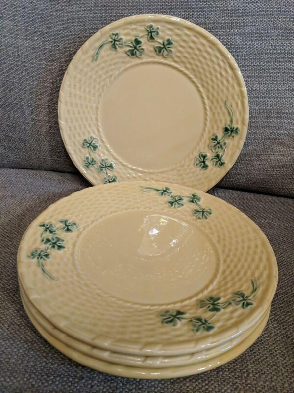 """Four Shamrock by Bordallo Pinheiro Salad Plates 8 1/2"""""""