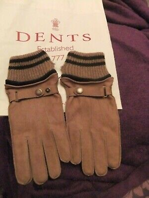 Dents Woburn Men/'s Leather Driving Gloves Contrast Black Heritage Collection