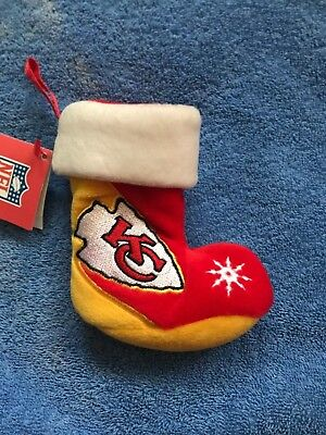 NWT KANSAS CITY CHIEFS 6 INCH BEAN BAG WEIGHTED STOCKING NEW