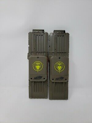 Lot of 2 NERF N-Strike Elite Rayven CS-18 Firefly Clips Magazine ONLY lighted