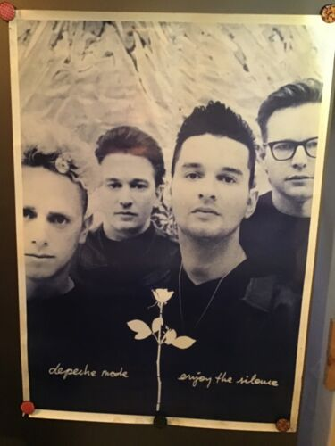 Vintage Depeche Mode Enjoy the Silence music band poster