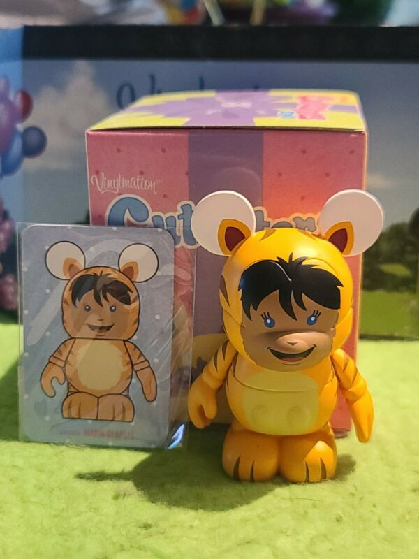 """DISNEY Vinylmation 3"""" Park Set 2 Cutesters Too with Box and Card Tiger Kid"""