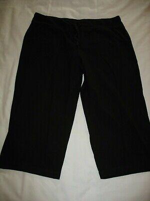 Athletic Works Capri Pants Sz XL 16-18 Black Drawstring Waist Womens