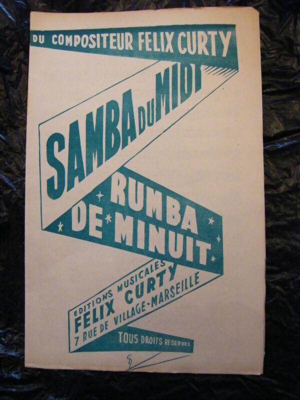 Partitur Samba Du Midi Rumba De Minuit Félix Curty