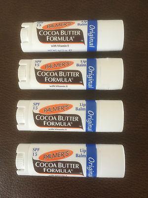 4 X PALMERS COCOA BUTTER FORMULA LIP BALM ORIGINAL BEST PRICE ON (Best Cocoa Butter Lip Balm)