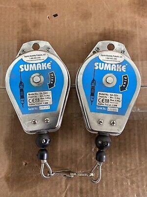 Lot Of 2 Sumake Sa-2201 Spring Tool Balancer Used