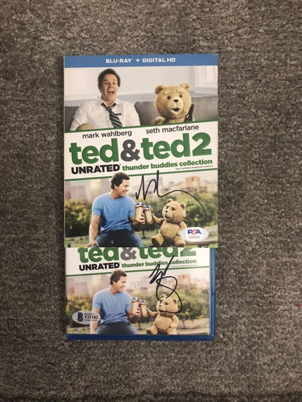 Mark Wahlberg Signed Autographed DVD Case Sleeve &  Cover Ted&Ted 2 Dual COA