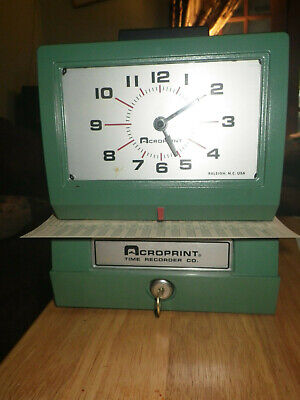 Acroprint 125nr4 Heavy Duty Time Clock Recorder