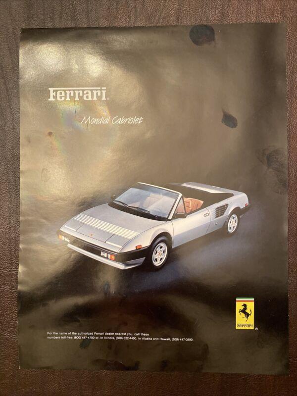 1984 Ferrari Mondial Cabriolet Brochure Original Excellent Condition