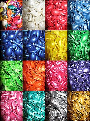 Luftballons Metallic Ø 28 cm Farbe & Stückzahl frei wählbar Helium Ballons