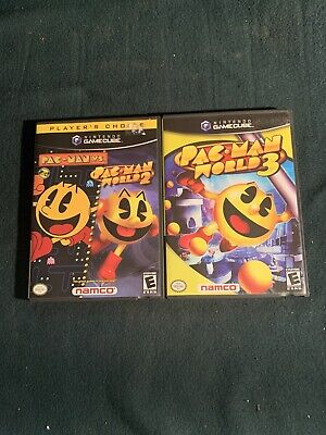 Pac-Man GAME LOT Vs., World 2 & 3 Nintendo GameCube COMPLETE!!! TESTED!