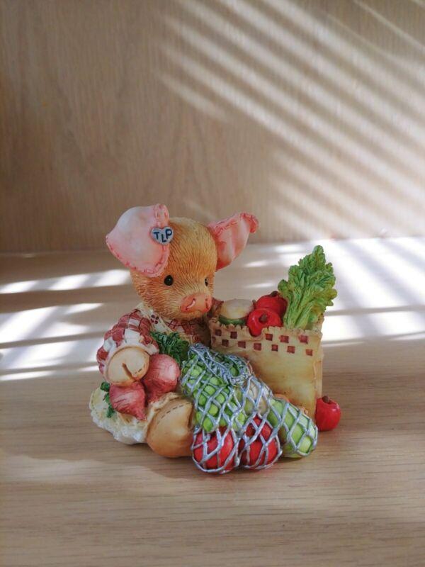 "This Little Piggy Figurine ""This Little Piggy Went To Market"" Enesco 1994"