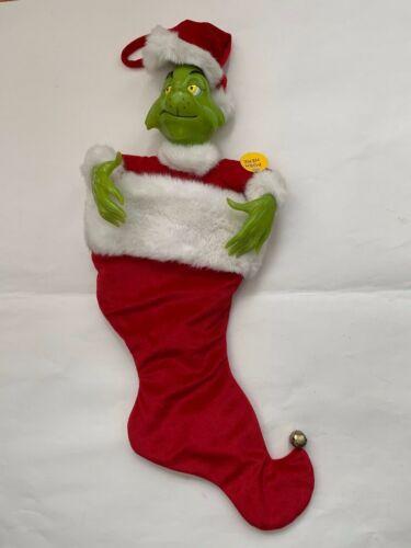 Universal Studio 2000 Dr. Seuss Musical Grinch Christmas Stocking