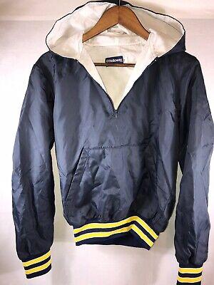 Navy HOLLOWAY Sportswear 1/4 Zip Pullover Hooded athletic Windbreaker Jacket XS