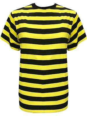New Ladies Bumble Bee Yellow&Black Stripes T-shirt Top 80's Fancy Dress Costume](Ladies Bee Costume)