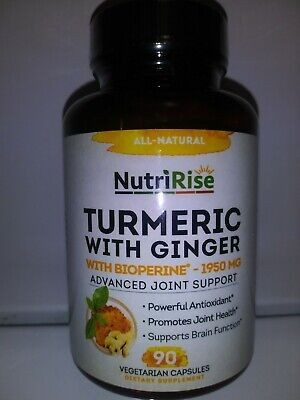 Turmeric Curcumin Supplement with Ginger & BioPerine Black Pepper Extract -