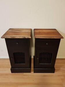 Black mahogany bedsides