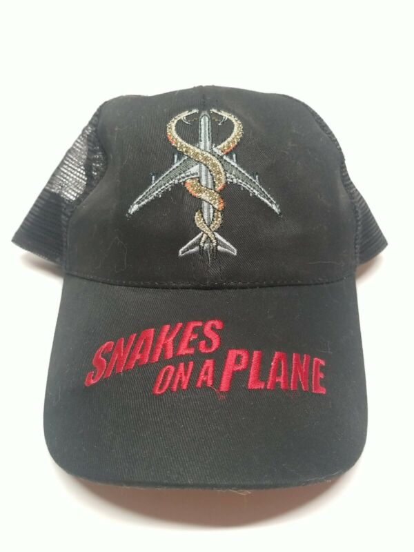 Snakes On A Plane Hat Black Mesh Back Samuel l. Jackson One Size Fits All Promo
