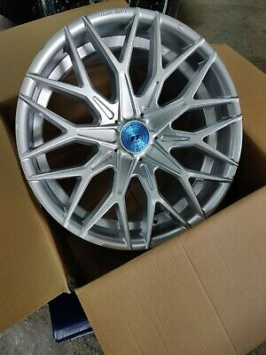 NEW SET OF 4 LEXANI MOROCCO 20X9/20X10.5 CUSTOM DRILL FOR MOST CARS SILVER