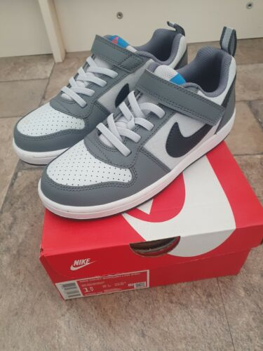 BOYS NIKE COURT BOROUGH LOW ( PSV ) NEW IN BOX JUNIOR SIZE 1