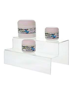 2 Tier 9.5 Acrylic Counter Jewelry Pedestal Perfume Display Riser Stand