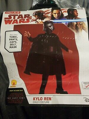 Star Wars Kylo Ren Child Halloween Costume Size Medium