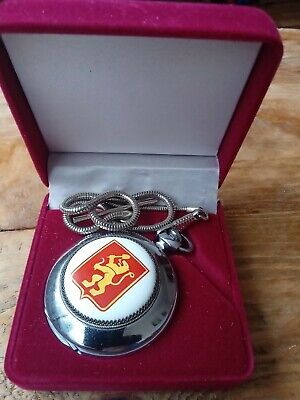 Pocket watch Molnija mechanical rare case with enamel, on a chain,gift box