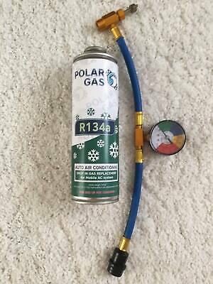 570g CAR Aircon Refill Regas Air Conditioning Top up R134A Gas hose replacement