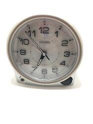Seiko 'Bedside' Silver Resin Arabic Numerals QXE0011A Alarm Clock Backlit