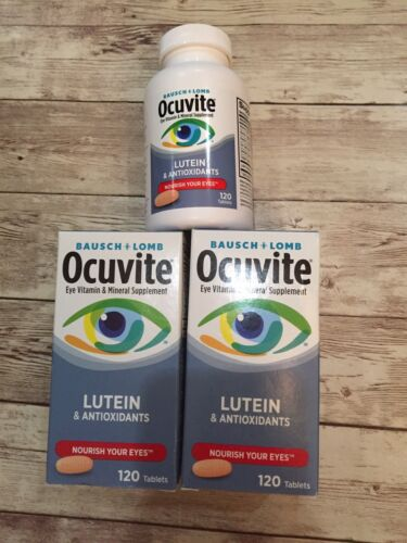 3x Bausch+Lomb OCUVITE Eye Vitamin Health Lutein 360 Tablets