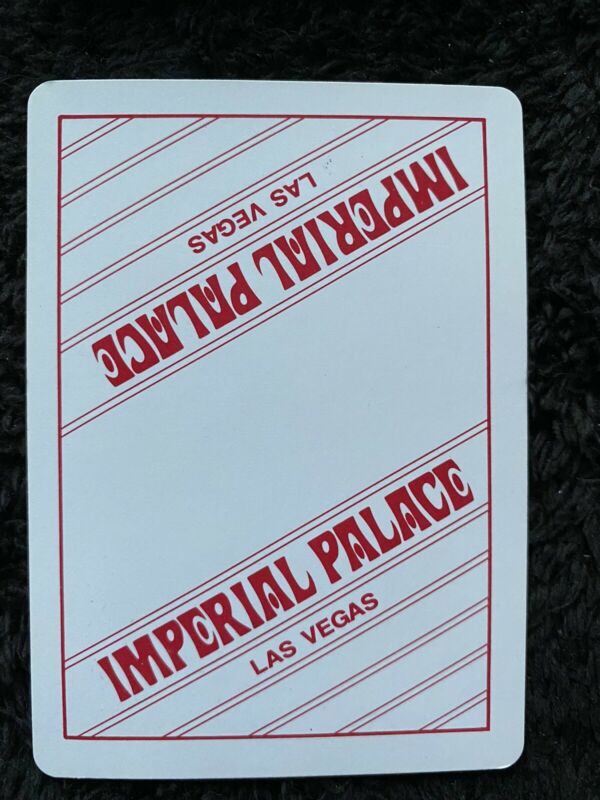 Rare Vtg Imperial Palace Gemaco Playing Cards - Red