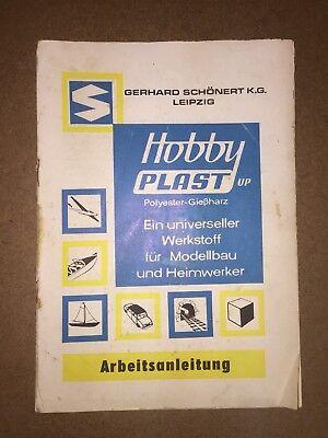 DDR Heft Anleitung Hobby Plast Polyester Gießharz Modellbau Schönert 1970