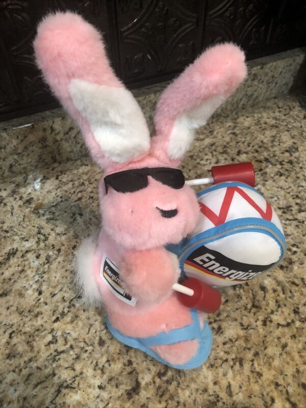 Energizer Battery Pink Bunny Plush Stuffed Animal Flip Flops 2007