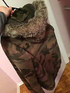 Men's XL Bench camouflage winter jacket, almost brand new
