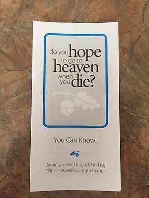 100 English version Gospel Tracts - Share your faith - God  -Ships FREE in US