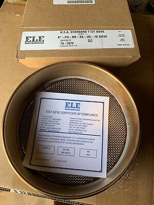 New Usa Standard Test Sieve 8-fh-br-ss-us-10 Sieve No.10