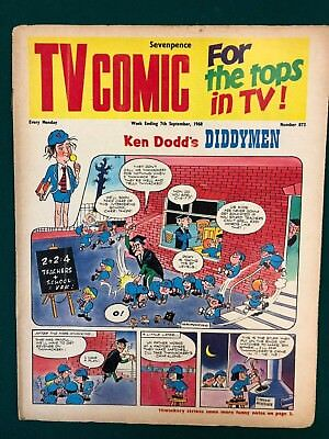 TV COMIC #873 weekly British comic book September 7 1968 Doctor Who full color