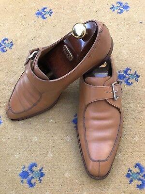 John Lobb Mens Tan Brown Leather Loafers Shoes UK 11 US 12 EU 45 Bourne