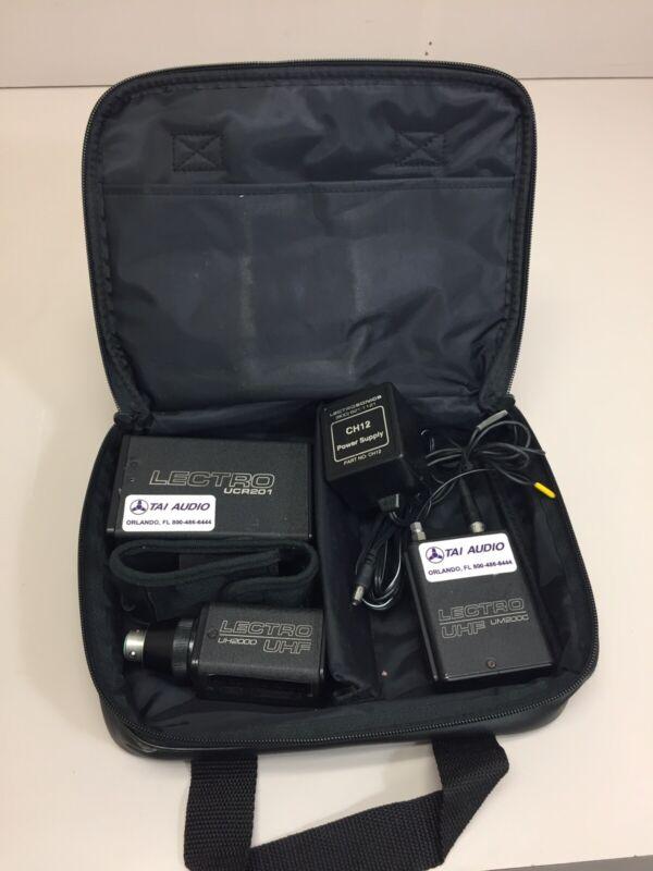 Lectrosonic Wireless Audio Receiver UCR201 W/ Transmitter UM2000 & UH200D