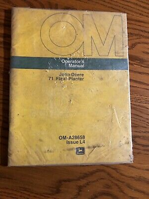 John Deere 71 Flexi-planter Oma28658 Operators Manual