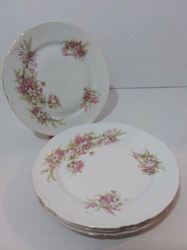 Antique Victoria Carlsbad Austria Portrait Porcelain Plate, set of 4