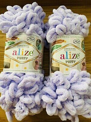 Alize Puffy No Needle/Hook Velour Knitting Wool/Yarn