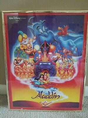 """Aladdin Framed Movie Poster OSP 16"""" x 20"""" (Walt Disney) Genie, Jafar, Jasmine"""